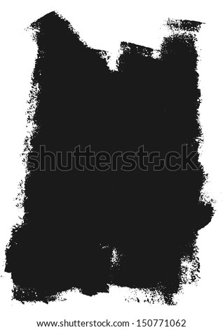 Vector grunge paint roller strokes - stock vector