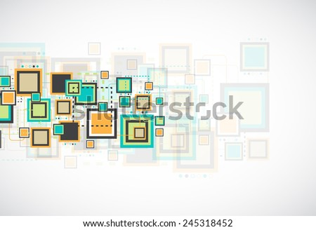 Vector grunge retro square background.  - stock vector