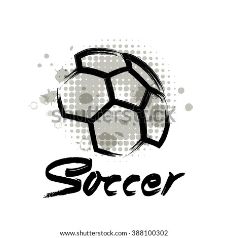 Vector Grunge Soccer Design Tshirt Poster Stock Vector