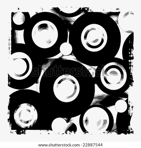Vector Grunge Speakers Abstract, See Jpeg Also In My Portfolio - stock vector