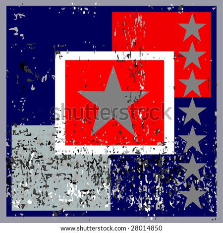 Vector Grunge Star Background - stock vector