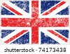 vector grunge styled flag of great britain - stock vector