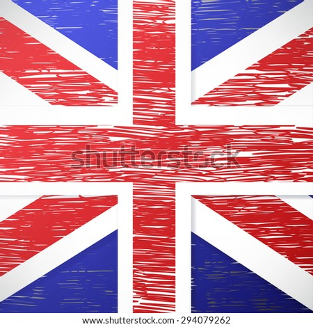 vector grunge styled flag of great britain