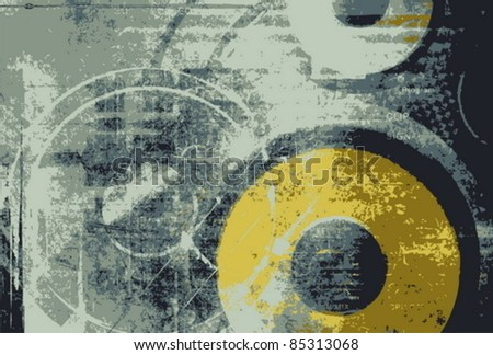 Vector grunge technology background - stock vector