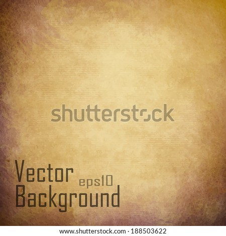 Vector Grunge Textured Paper - stock vector
