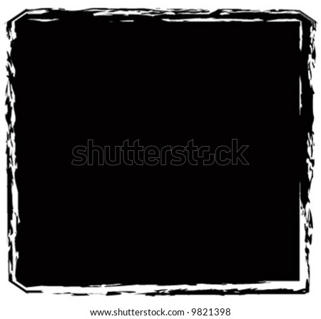 Vector grunge torn edge square background