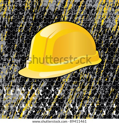 vector grunge under construction layout, layered and fully editable - stock vector