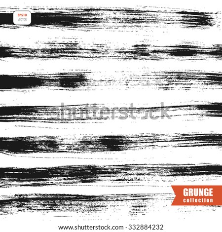 vector grungy background with messy lines - stock vector
