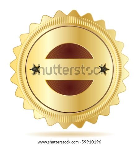 Vector Guarantee Badge Template - stock vector