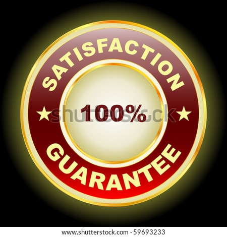 Vector guarantee label. - stock vector