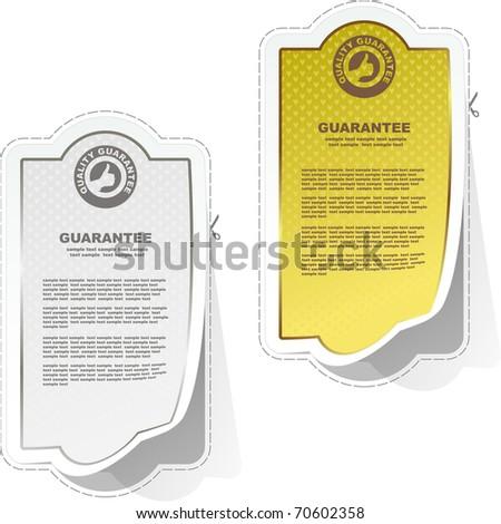 Vector guarantee sticker set. - stock vector