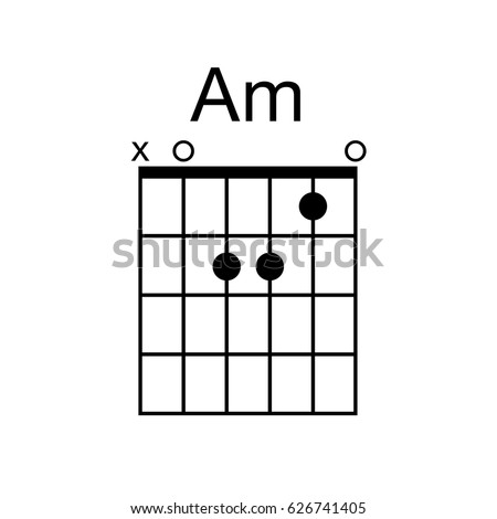 Vector Guitar Chord Am Minor Chord Stock Vector 626741405 - Shutterstock
