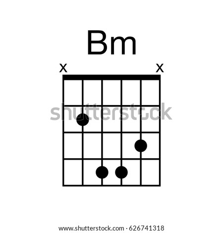 vector guitar chord bm b minor stock vector 626741318. Black Bedroom Furniture Sets. Home Design Ideas