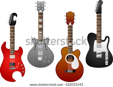 vector guitar set 5