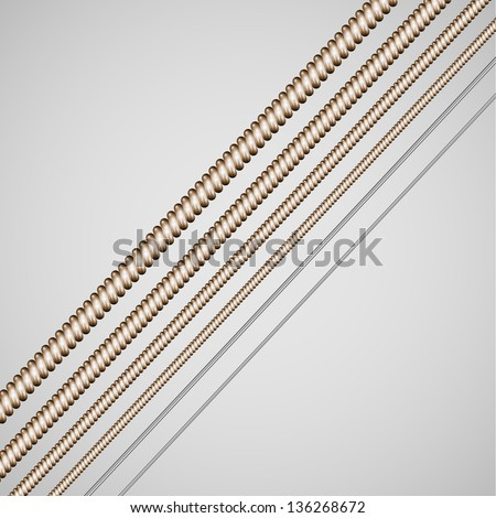 Vector guitar strings - stock vector