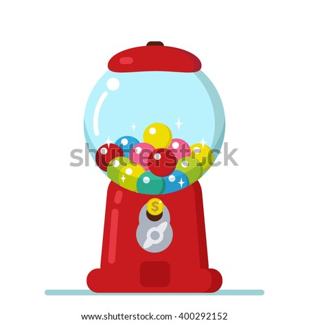 Bubble gum machine stock images royalty free images vectors vector gumball machine illustration pronofoot35fo Images