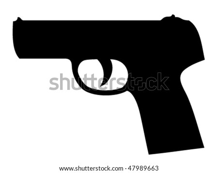 vector gun silhouette - stock vector