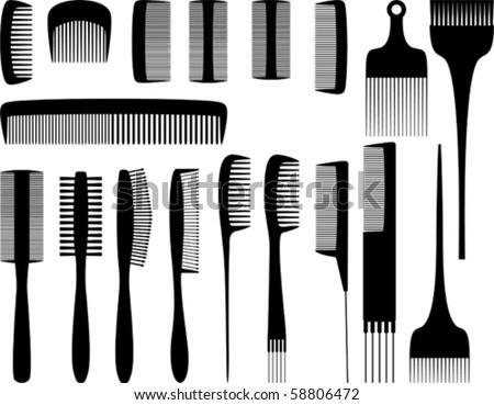 Vector hairdresser tools 1 - stock vector