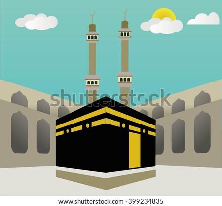 vector hajj umrah kaaba makkah background stock vector peace sign vector free peace sign vector file
