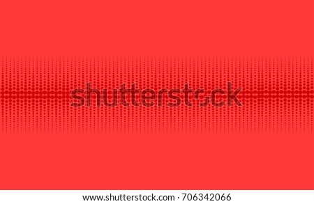 Vector halftone background with red circles.