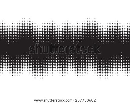 Vector Halftone Dots Music Wave Background . - stock vector