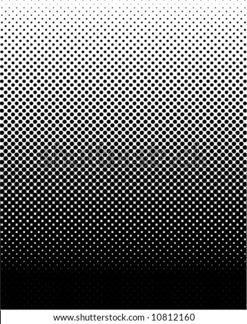 vector halftone gradient - stock vector