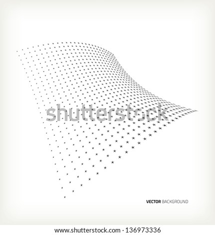 Vector halftone stars - stock vector