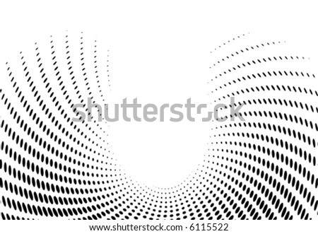 Vector Halftone vawe dots for backgrounds and design - stock vector