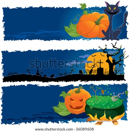 Vector Halloween banners. Part 1