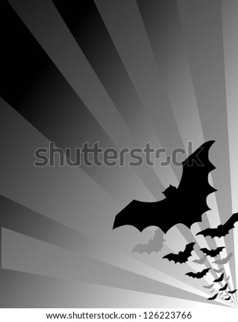 vector - Halloween Bats flying out at night. EPS8 compatible.
