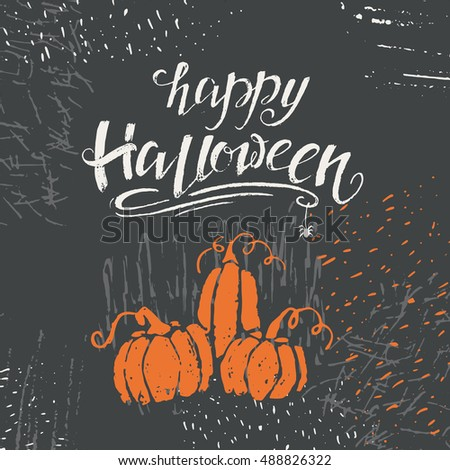 Vector halloween lettering greeting card happy stock vector vector halloween lettering greeting card happy halloween message design background with vector texture perfect m4hsunfo