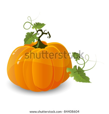 vector halloween pumpkin - stock vector