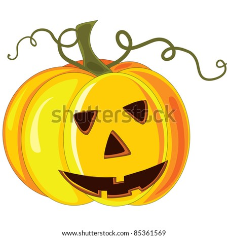 Vector halloween pumpkin.