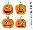Vector Halloween pumpkin set - stock vector