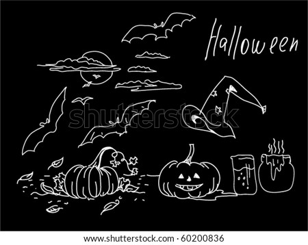 vector halloween symbols - stock vector