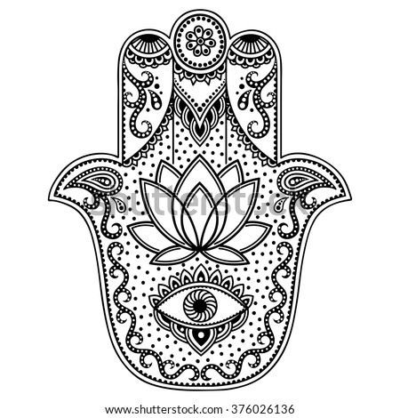 Hamsa stock vectors images vector art shutterstock for Evil eye coloring pages