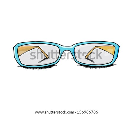 vector hand draw glasses