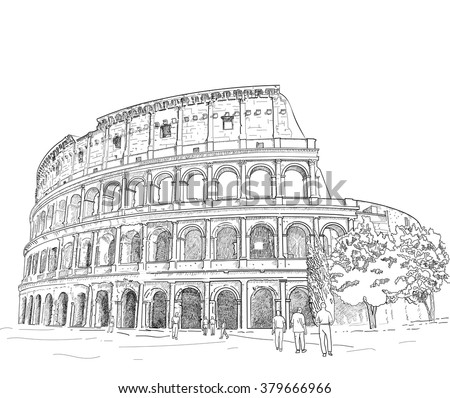 Roman Architecture Drawing roman architecture stock images, royalty-free images & vectors