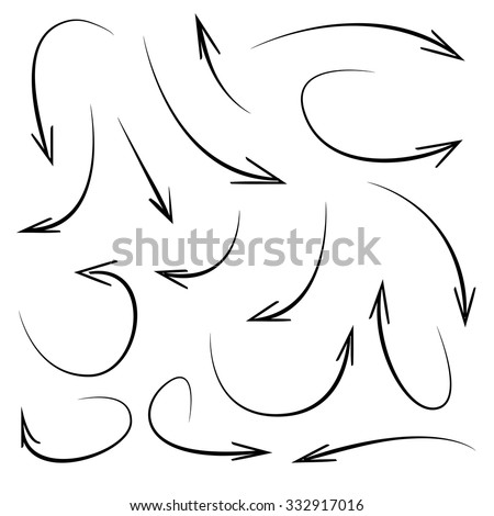 vector hand drawn arrows - stock vector