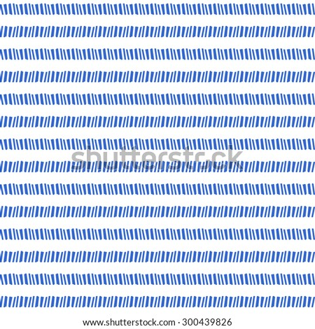 Vector hand drawn blue ink lines abstract background. Seamless pattern. - stock vector