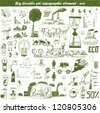Vector hand drawn design elements - eco - stock vector