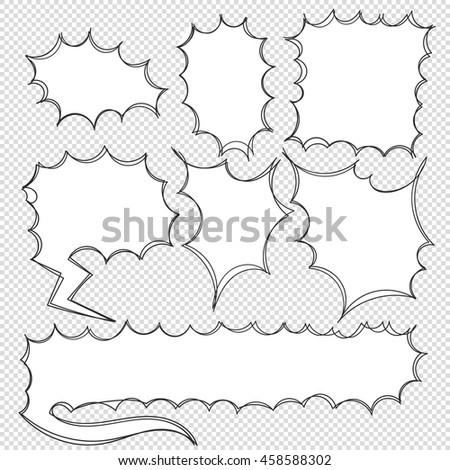 Vector Handdrawn Doodle Conversation Bubbles On Stock Vector HD ...