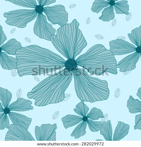 Vector hand-drawn floral pattern for your design