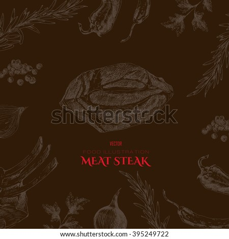 vector hand drawn meat restaurant menu stock vector hd royalty free