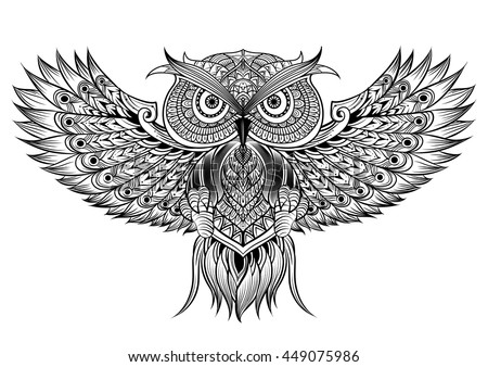 owl tattoo stock images royaltyfree images amp vectors