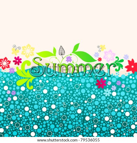Vector hand drawn style cute summer illustration