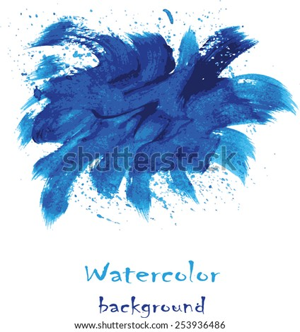 Vector hand drawn watercolor background for you design.  Abstract design. - stock vector