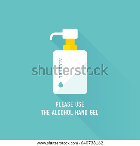 Vector Hand Sanitizer Symbol Alcohol Bottle Stock Vector 640738162 ...