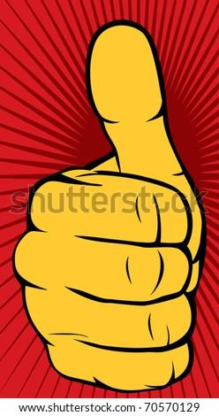 Vector hand showing thumbs up - stock vector