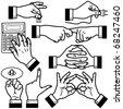 Vector Hands - stock vector